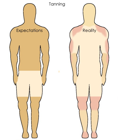Tanning Expectations vs. Reality
