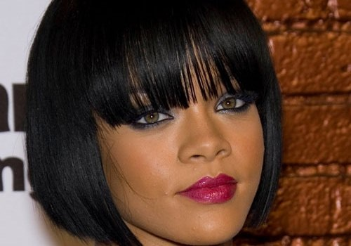 Rihanna Hairstyles for Black Women with Medium Straight Hair