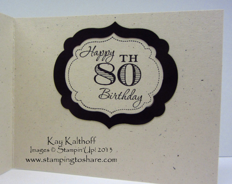 Stamping to Share 611 Happy 80th Birthday Dad – Dad 80th Birthday Card