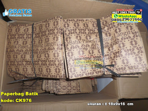 Paperbag Batik unik