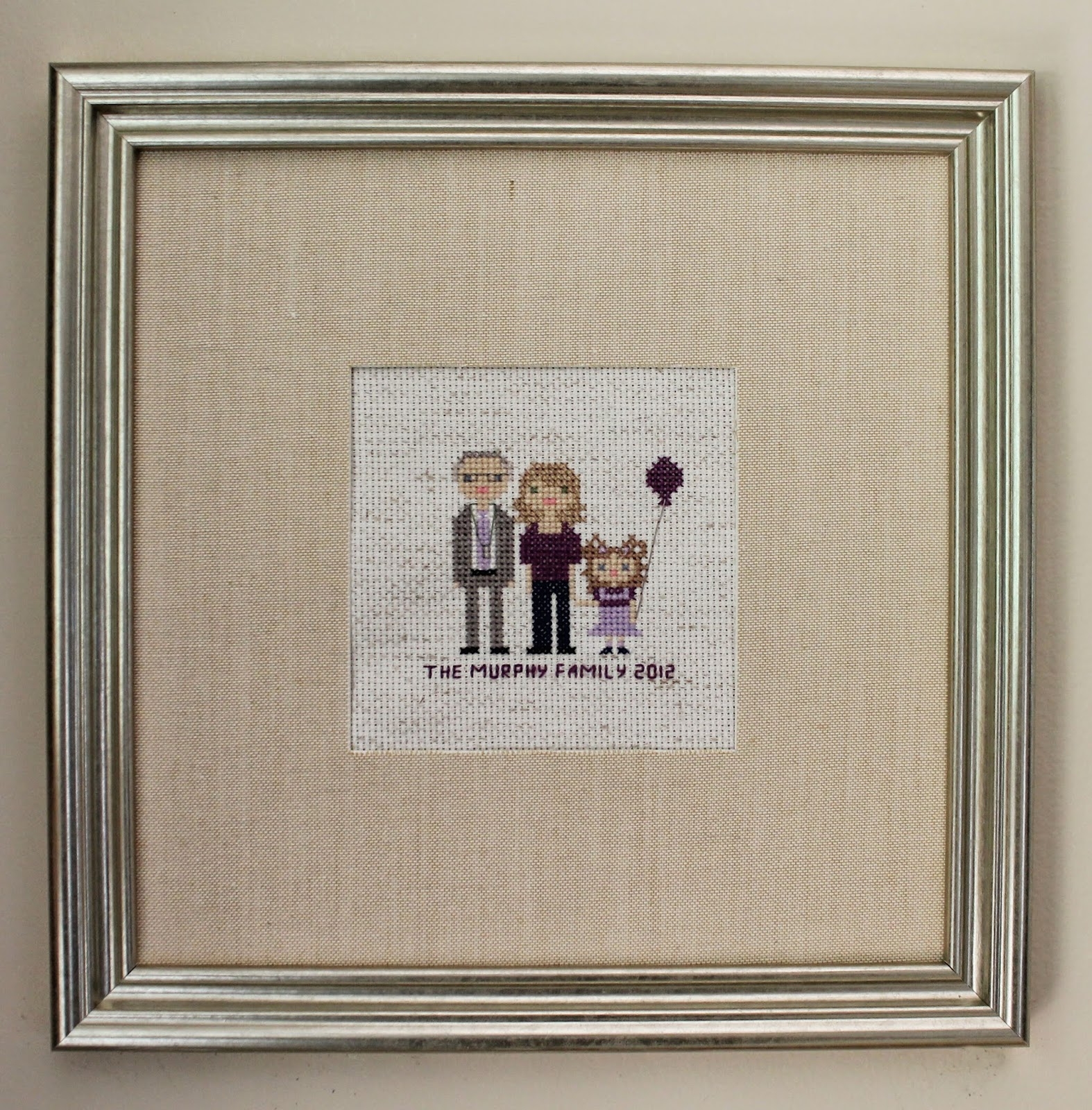 Mini Us, A Cross-Stitch Pixelated Family Portrait | The Inspired Wren