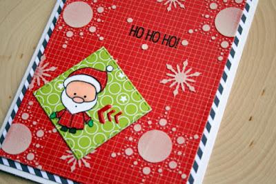 Santa Christmas Card by Jess Gerstner featuring Create a Smile Snow Dance Kit