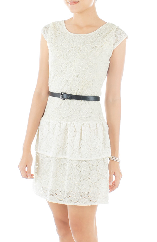 Adore Lace Dress – Pearl White