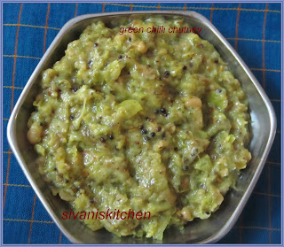 green chilli coriander leaves chutney