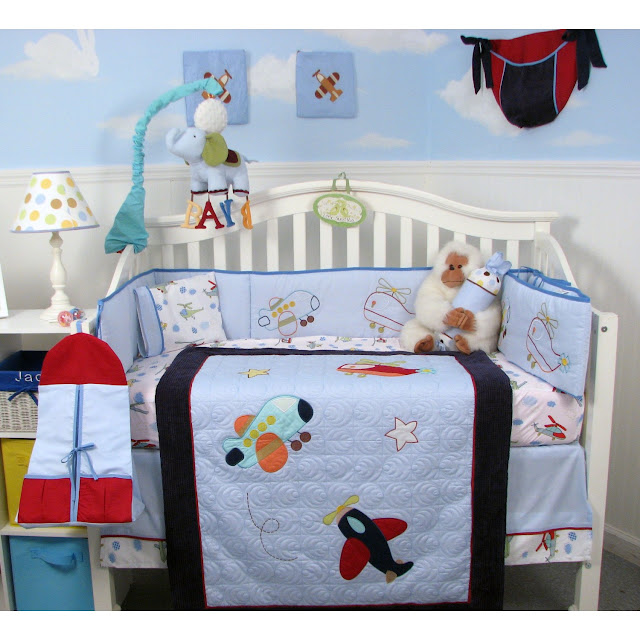 Cheap crib bedding sets - Airplane baby bedding sets ...