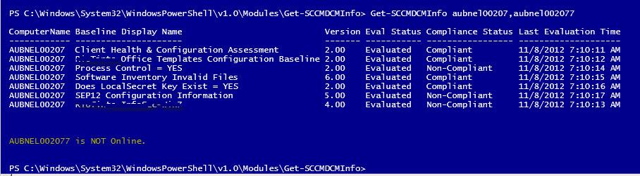 Ben Morris: PowerShell - Get SCCM DCM compliance remotely