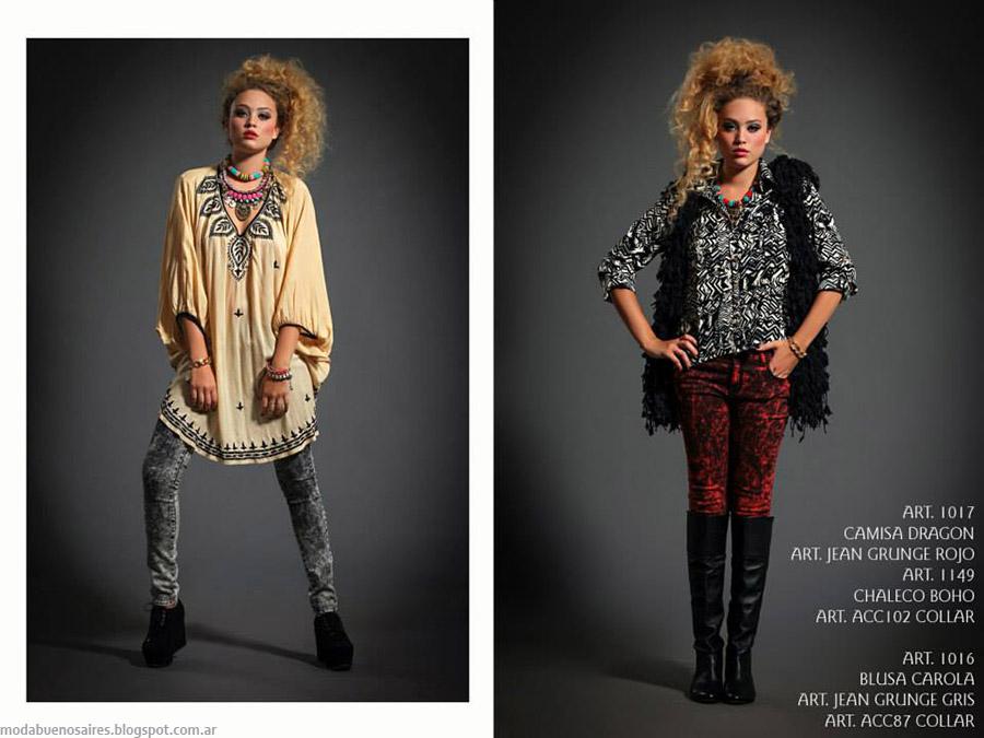 Moda túnicas otoño invierno 2015 Sophya