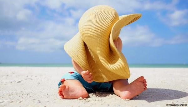 Belle photo bébé dans la plage