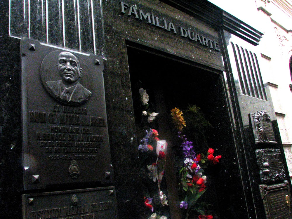 Evita Peron cemitério de la recoleta