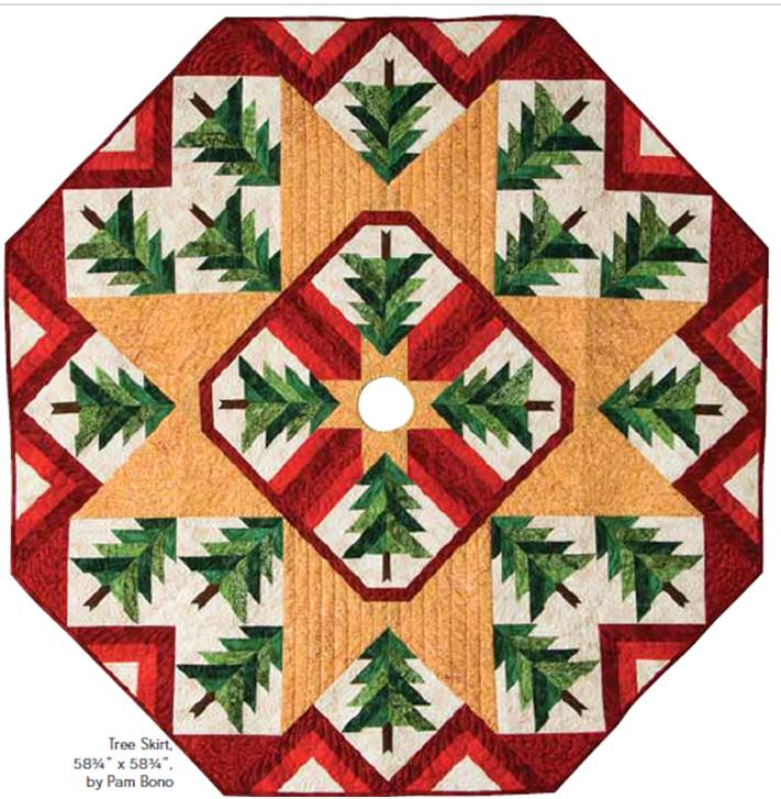 free pattern day christmas tree skirts quilt inspiration bloglovin - Pattern For Christmas Tree Skirt