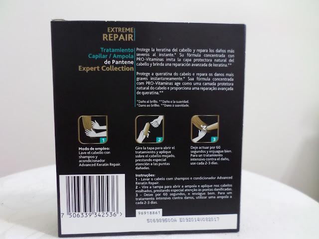 ampolas keratin repair pantene