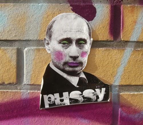 Street Art politisch, hier Putin und Pussy Riot thematisiert