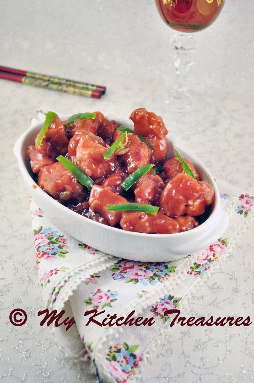 My kitchen treasures honey chilli chicken honey chilli chicken forumfinder Image collections