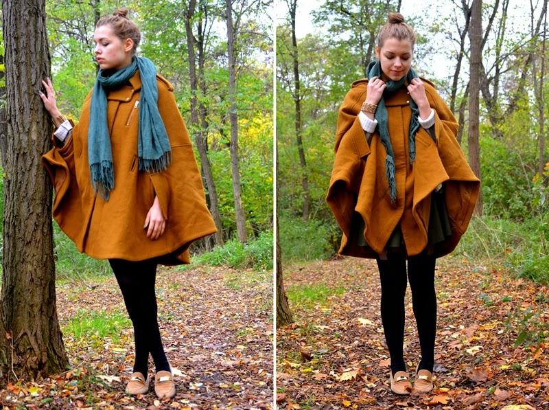 cape scarf details shoes vintage