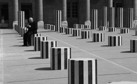 Striped Columns at Jardins Palais Royal