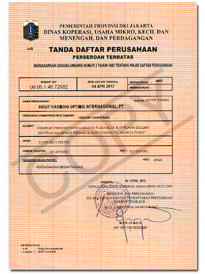 TDP (Tanda Daftar Perusahaan)