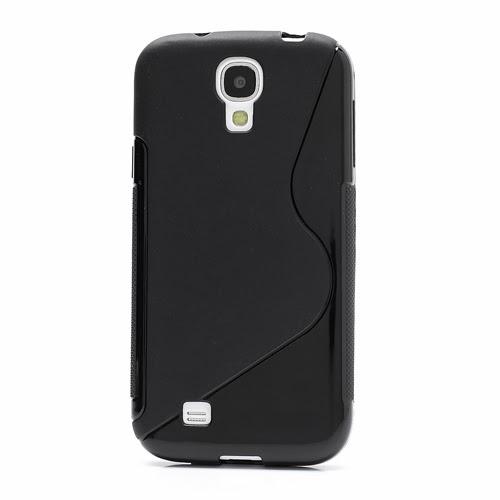 S-Curve Soft TPU Jelly Case for Samsung Galaxy S 4 IV i9500 i9502 i9505 - Black