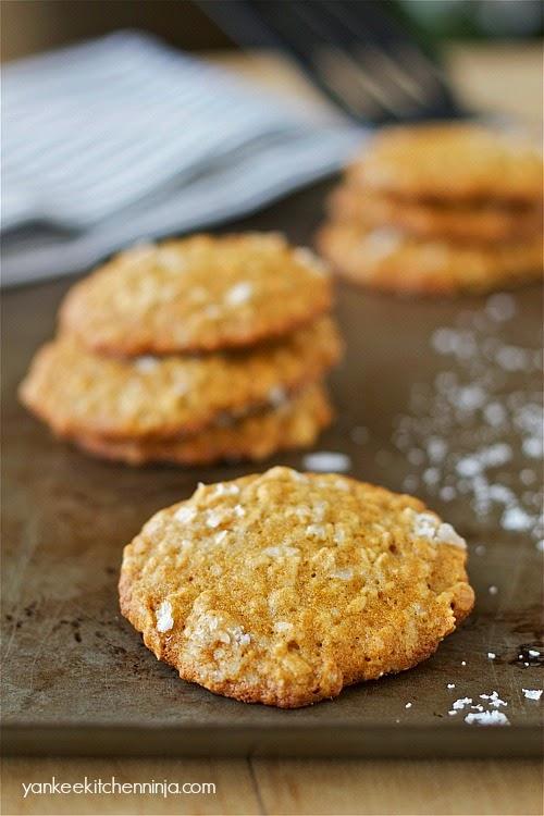 Salted cardamom oatmeal cookies | Yankee Kitchen Ninja