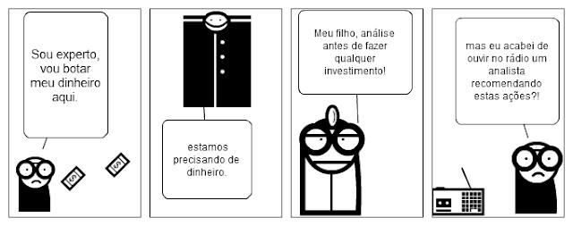 [Tirinha] Recomendações de investimento em ações