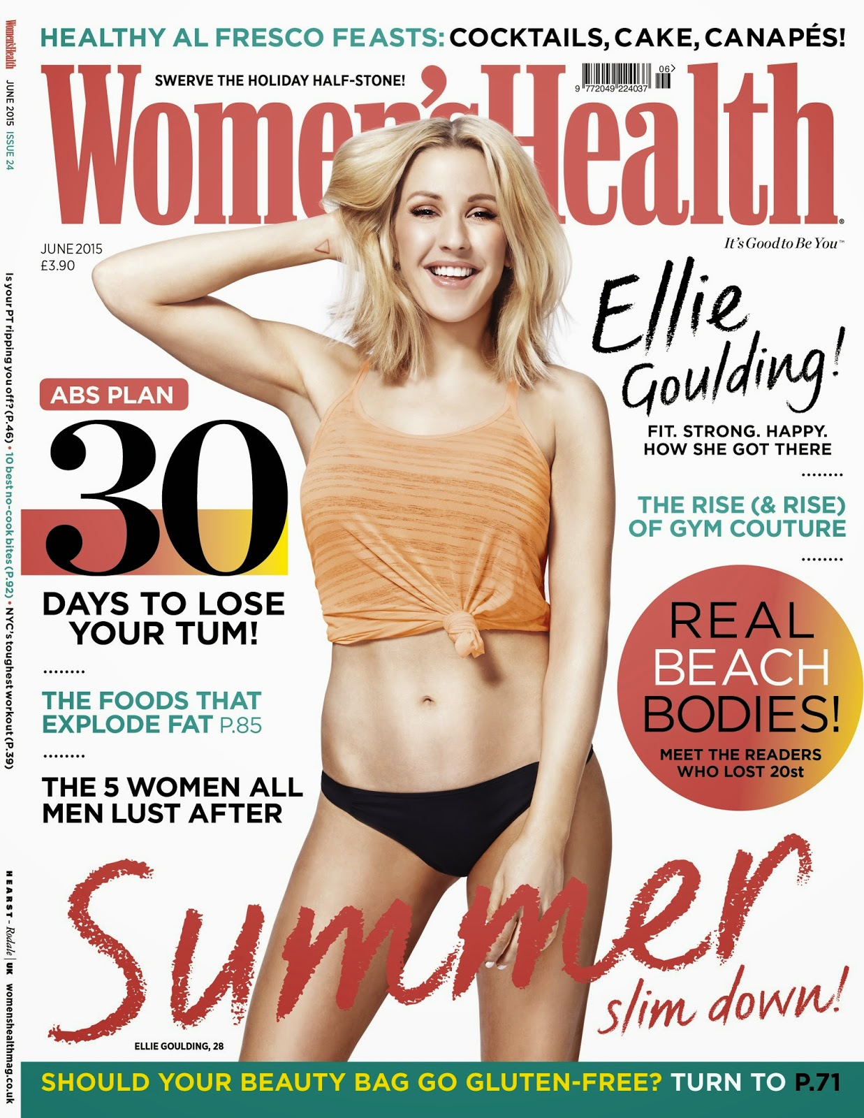 Singer,  Musician, Producer @  Ellie Goulding - Womens Health UK, May 2015