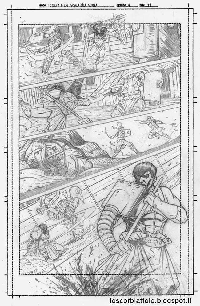 icon 1 e la squadra alpha pagina 21 matite mirko treccani gladiatori gladiators pencils