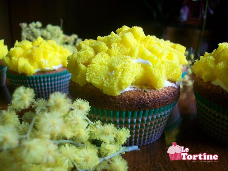 Cupcakes alla Mimosa | Le Tortine - Cupcakes blog