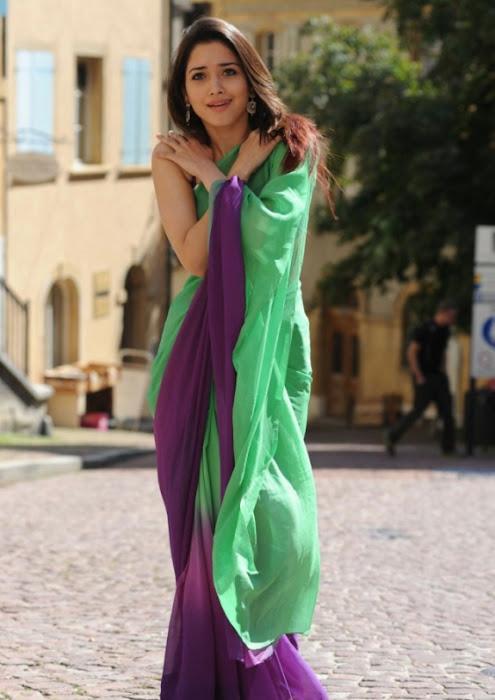 tamanna in green saree latest photos