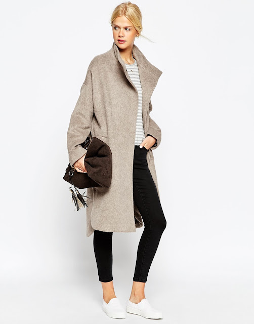 stone wool coat, asos beige maxi coat,