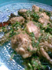 chicken in a black pepper sauce   murgh kaali mirch