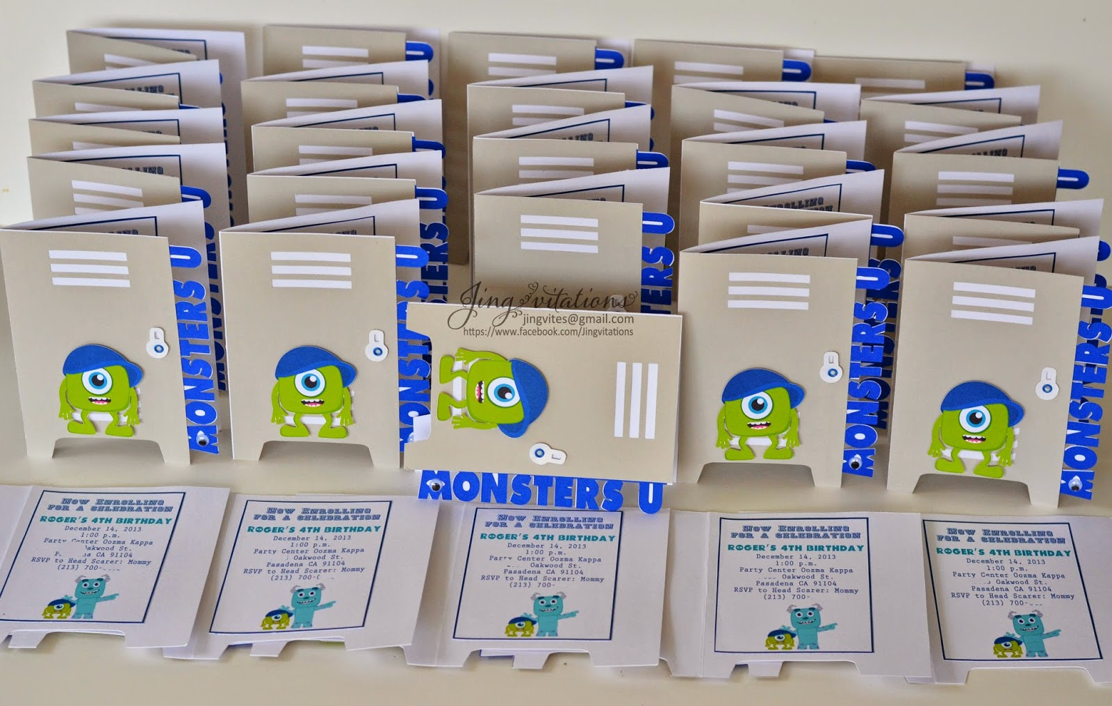 monster university party invitations