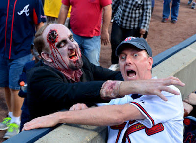 Zombie Night at Turner Field | Zombie & Travis