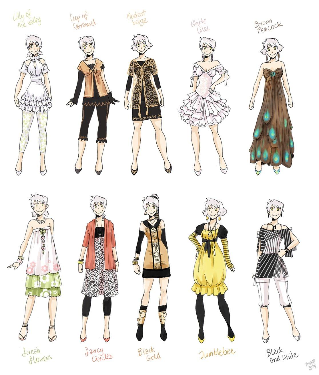 Como desenhar mang 225 roupas femininas