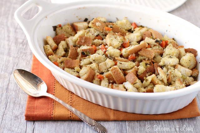 Low-FODMAP Turkey Stuffing  /  Delicious as it Looks