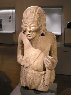 Arca pertapa Hindu dari masa Majapahit akhir.