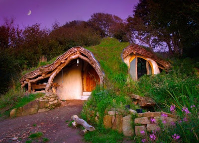 Wales hobbit house with earthen roof