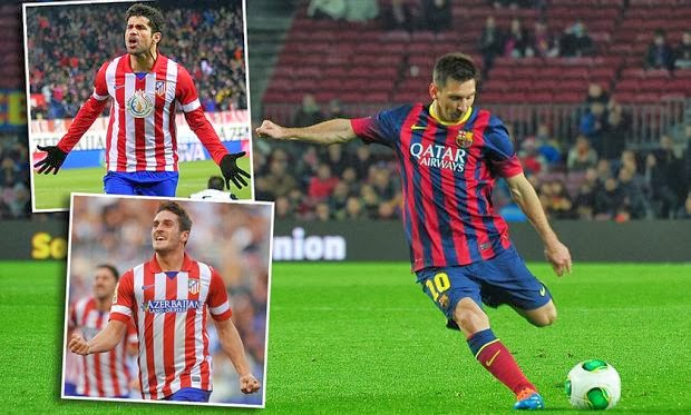 Atletico Madrid vs Barcelona La Liga January 2014