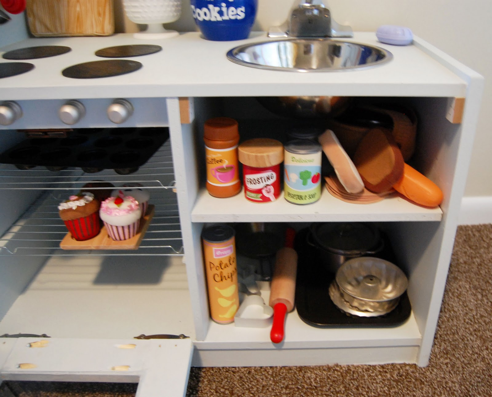 Homemade Play Kitchen Createinspiremotivate Entertainment Center To Play Kitchen