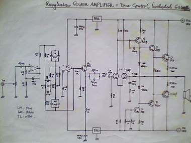 Rangkaian Stereo Tone Control + Power Amplifier