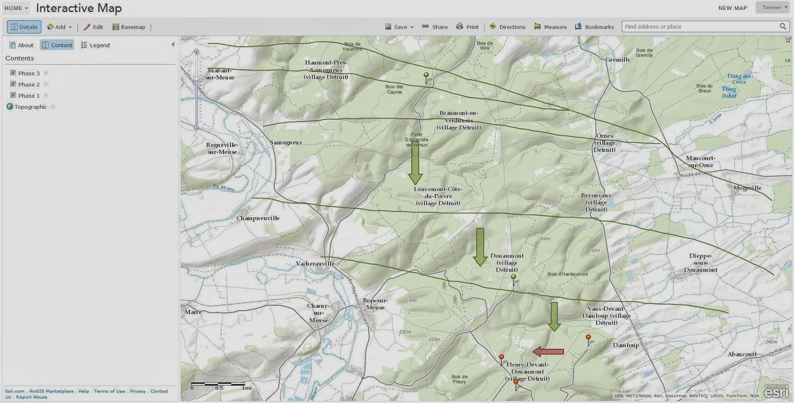 progress of my interactive map battle of verdun