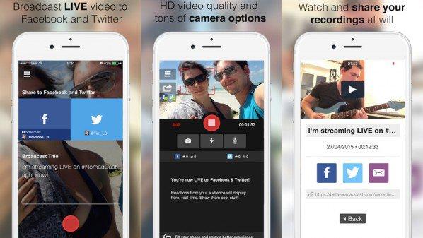 تطبيق لعمل بث مباشر على فيس بوك وتويتر