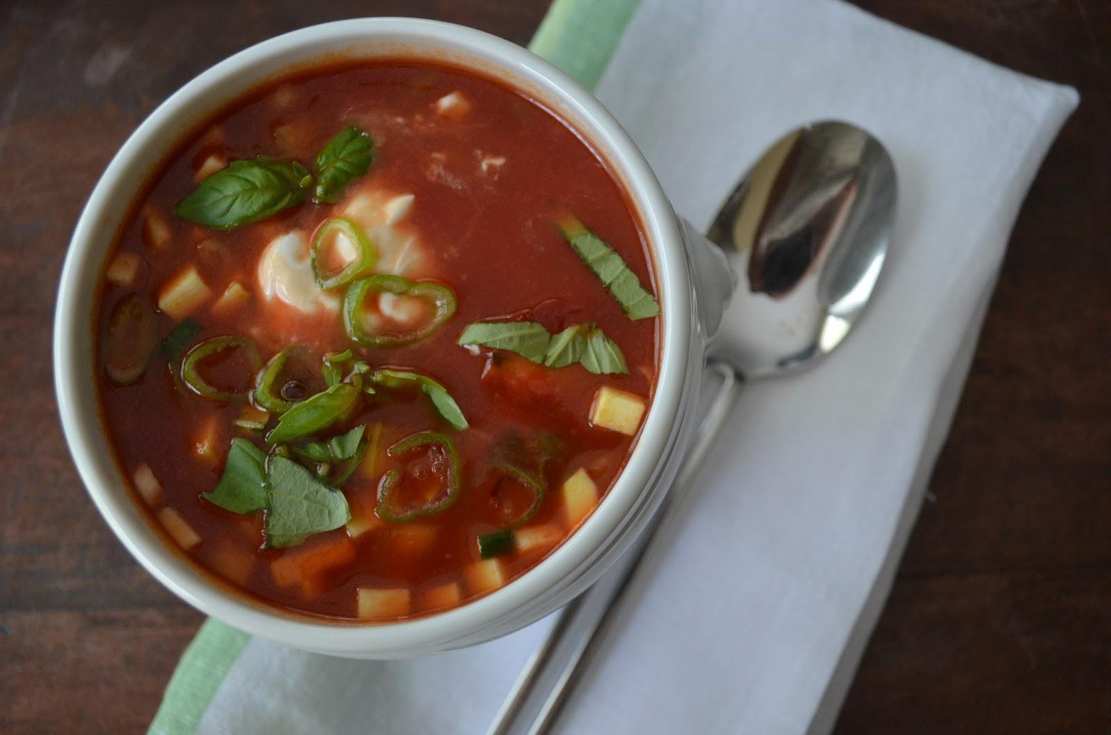 Cold Tomato Summer Vegetable Soup Recipes — Dishmaps