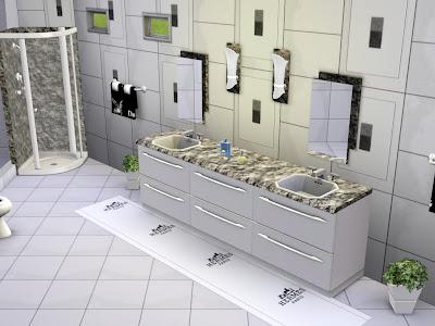 banheiro grande, banheiro pequeno