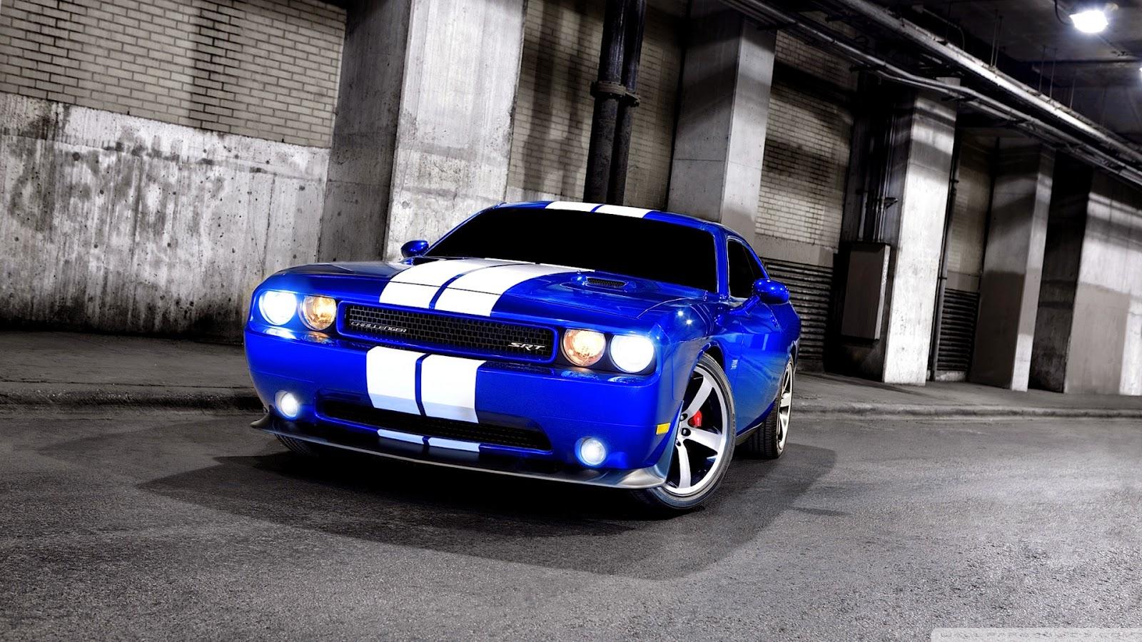 Dodge Challenger SRT Blue color