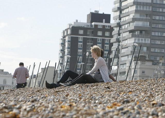 Dakota Fanning - Set of 'Now is Good'