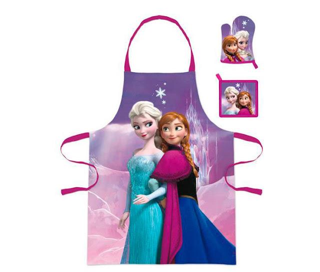 Delantal Elsa y Anna El Reino del Hielo