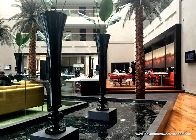 Centro Sharjah hotel lobby and restaurant