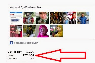 gambar jumlah visitor blog