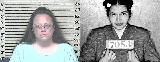 Kim Davis and Rosa Parks