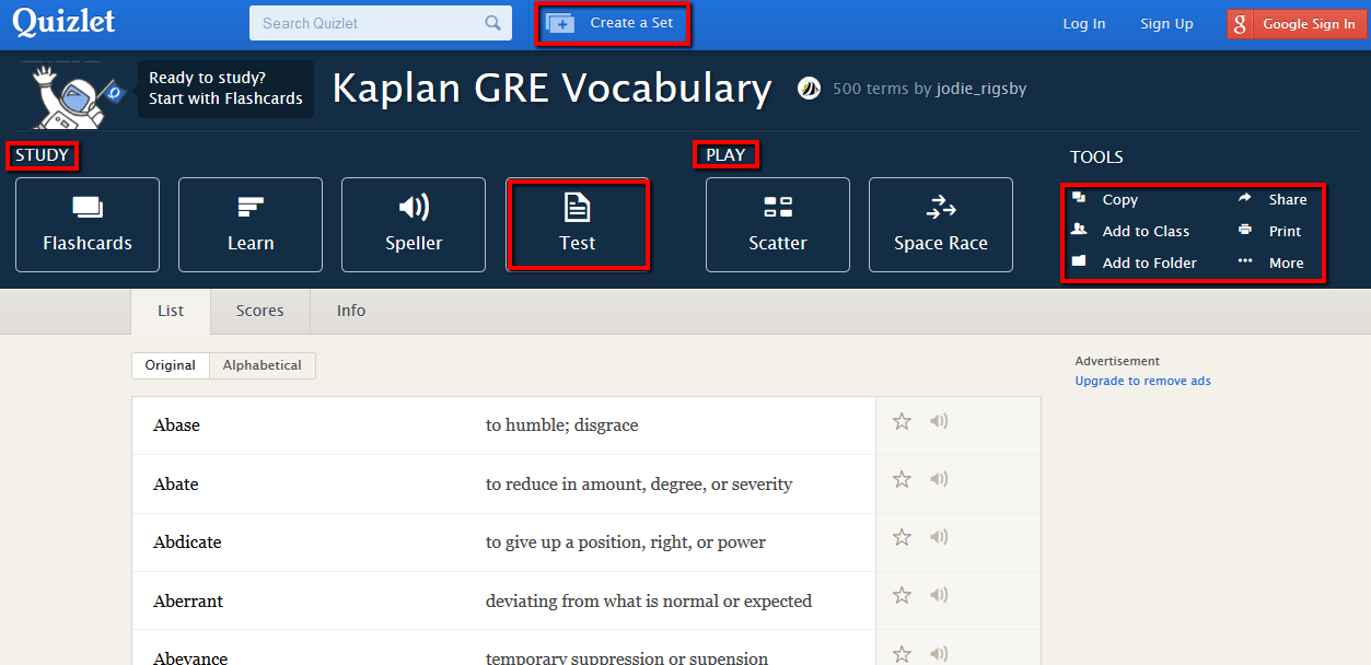 Using quizlet to study for the gre httpquizlet216464kaplan gre vocabulary flash cards fandeluxe Images