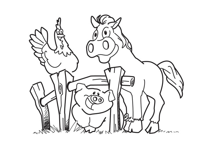 cartoon barnyard coloring pages - photo#1